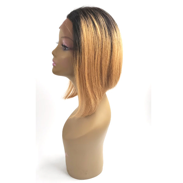 Ebony Tiara 100% Human Virgin Hair 4x4 Lace Front Wig - BOB 12""
