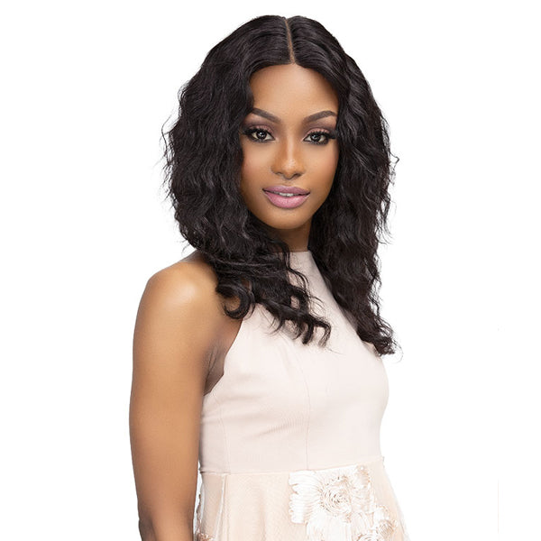Janet Collection Luscious Wet & Wavy 100% Natural Virgin Remy Indian Lace Front Wig - TEYANA