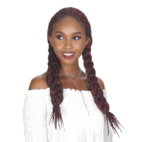 Zury Hollywood Sis Diva Box Braid Lace Front Wig - FULANI BOX 30""