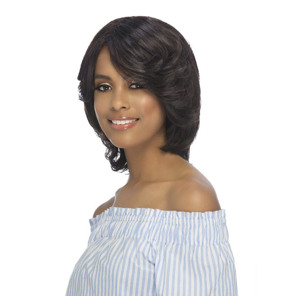 Vivica A Fox 100% Brazilian Remi Human Wet & Wavy Full Wig - WW DORIS