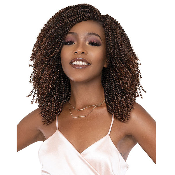 "Janet Collection Afro NalaTress Synthetic Crochet Braid - 2X CURL BAE10""4A"
