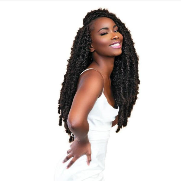 "Janet Collection Nala Tress Synthetic Hair Crochet Braid - BUTTERFLY LOCS 18""(SLIM)"