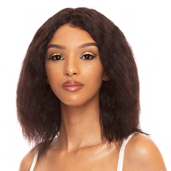 The Wig Black Pink WET & WAVY  100% Brazilian Remy Full Wig - HBL WET N BOHEMIAN