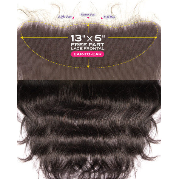 "Janet Melt  13""X 5"" HD Lace Closure - Body"