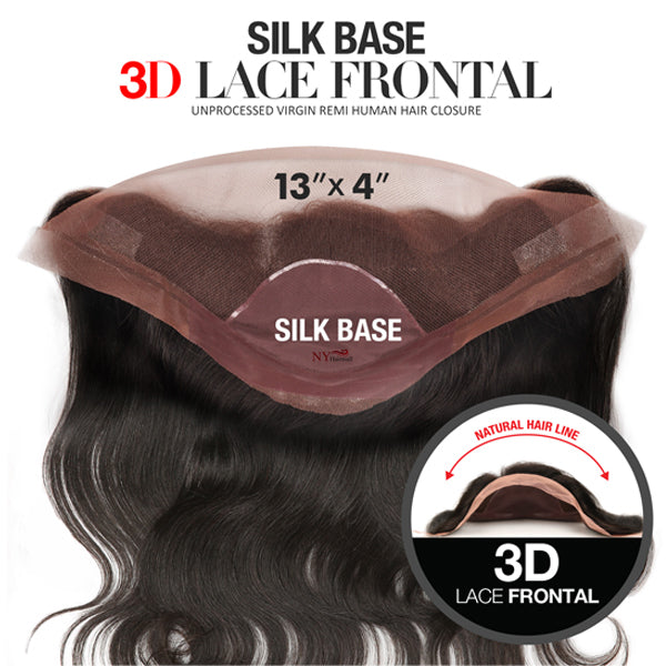 The Wig Upscale Virgin Remi Human Hair Silk Base 3D Lace Frontal closure - BODY WAVE 14""