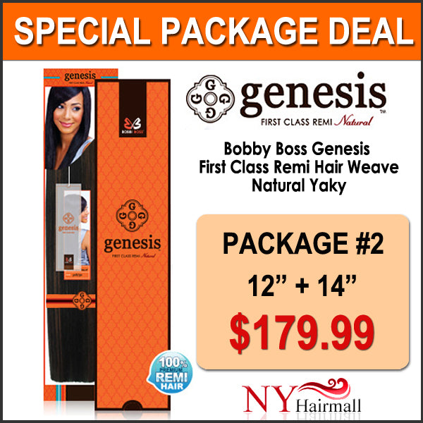 "Bobbi Boss Genesis™ First Class Remi Hair Weave Natural Yaky - Package Deal #2 (12"",14"")"