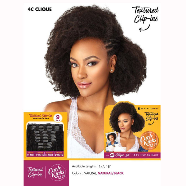 Sensationnel Curls Kinks & co Textured Clip ins - 4C CLIQUE
