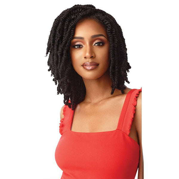 Outre X-Pression Twisted Up Lace Front Braid Wig-STRAIGHT BOMB TWIST14""