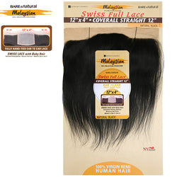 Sensationnel Malaysian Virgin Remy 12X4 Swiss Full Lace Coverall Closure - STRAIGHT 12""