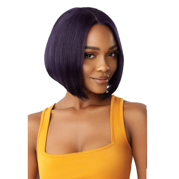 Outre The Daily Wig Unprocessed Human Hair Lace Part Full Wig - BUMPED BOB 10""