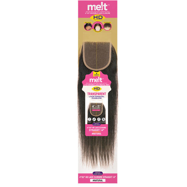 "Janet Melt  4""X 5"" HD Lace Closure - Straight"