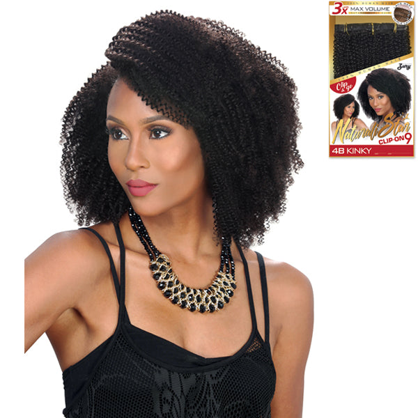 Zury Hollywood 100% Human Hair NaturaliStar Clip On - 4B KINKY 9PCS