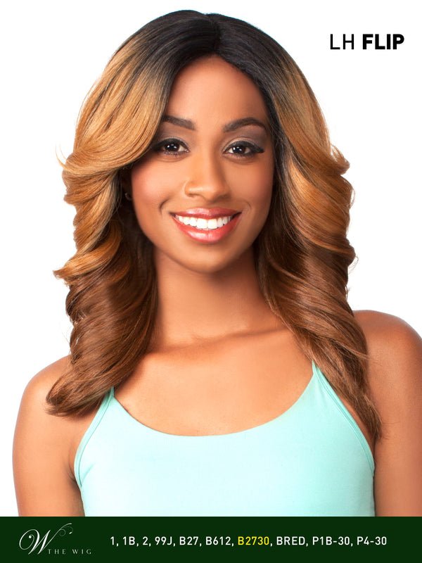 THE WIG HUMAN HAIR BLEND LACE FRONT WIG LH - FLIP