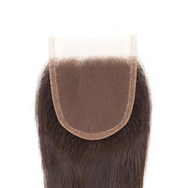 Sensationnel Bare & Natural 100% Virgin Remi 7A 4X4 Lace Closure - STRAIGHT 14""