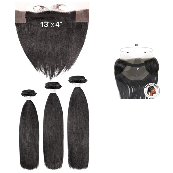 My Tresses Black Label 100% Unprocessed Hair Bundle 3PCS + 13X4 Closure - NATURAL STRAIGHT