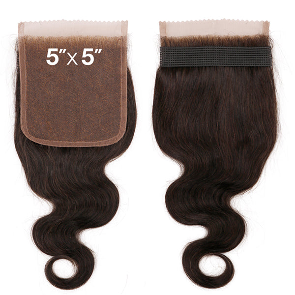 Sensationnel 7A Virgin Human Hair Bleached Knots 5X5 Lace Closure - BODY WAVE 12""