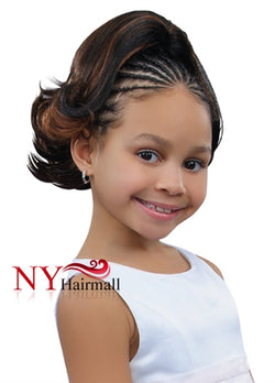 Sensual Pretty Girl Kids Drawstring Ponytail - Jade