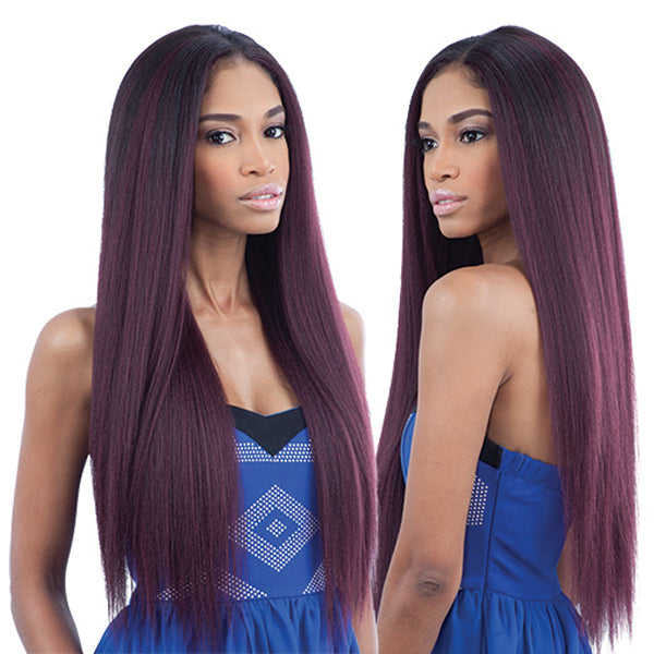 "MilkyWay Que Malaysian Human Blend Weave -Ironed Texture Natural Straight 7PCS - 18""20""22"""