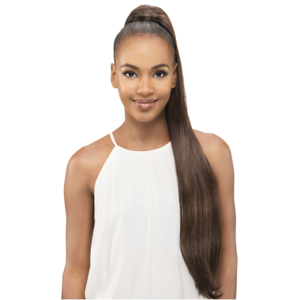 Vivica Fox Synthetic Drawstring Ponytail Straight Pocket Bun-PB181