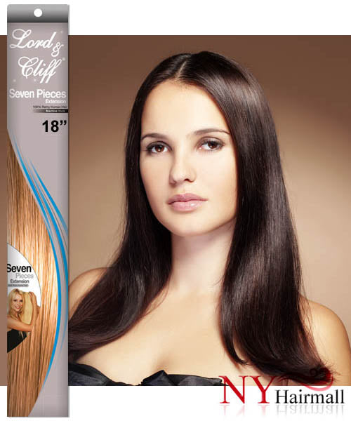 Lord & Cliff 7 Pcs 100% Remy Human Hair Clip on Extension