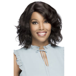 Vivica A Fox 100% Natural Brazilian Remi Hair Swiss Lace Front Wig - KACEY