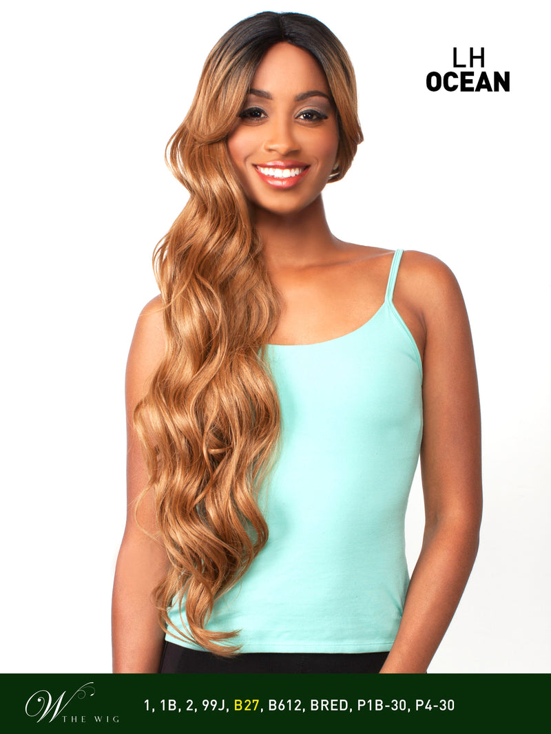 The Wig Brazilian Human Hair Blend Invisible Deep Part Lace Front Wig LH-Ocean