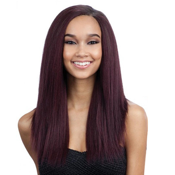 "MilkyWay Que Malaysian Human Blend Weave -Ironed Texture Natural Straight 7PCS - 12""13""14"""
