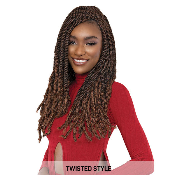 "Janet Collection Afro NalaTress Synthetic Crochet Braid - 2X CURL BAE10""4B"