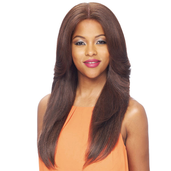 Vanessa Brazilian Human Hair Blend 13X5 Swissilk Lace Frontal Wig - T35HB BRODIE