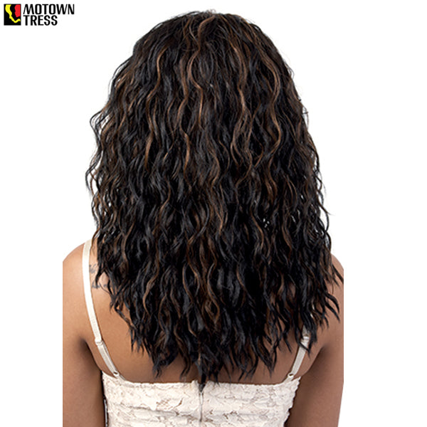 Motown Tress Synthetic Swiss Lace Front Wig - L. MELANY