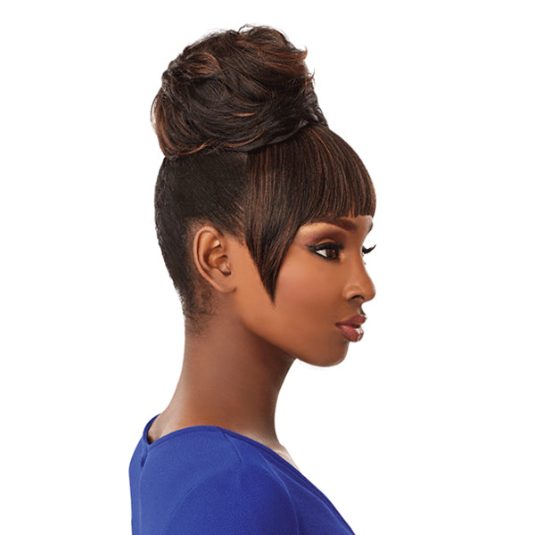 Sensationnel Instant Bun With Bangs Synthetic Drawstring Bun - ADA