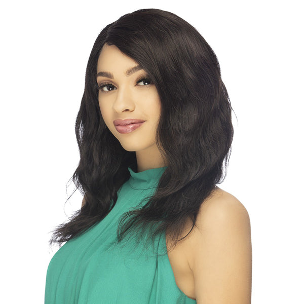 Vivica A Fox 100% Natural Brazilian Remi Hair Swiss Lace Front Wig - ASANAH