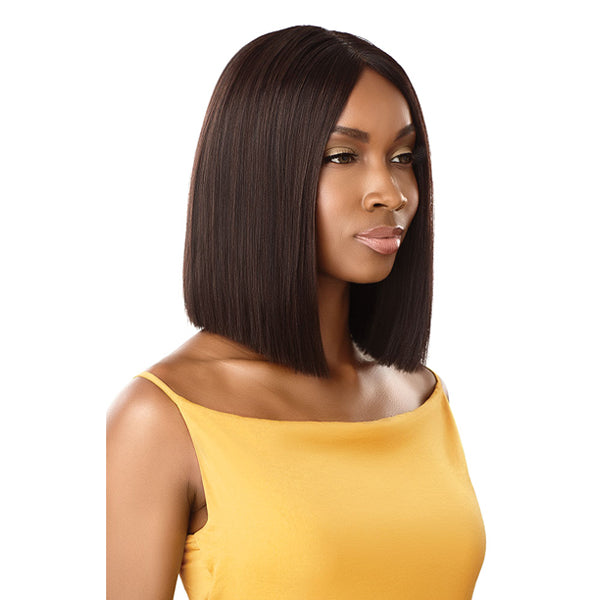 Outre The Daily Wig Unprocessed Human Hair Lace Part Full Wig - STRAIGHT BLUNT CUT BOB 12""