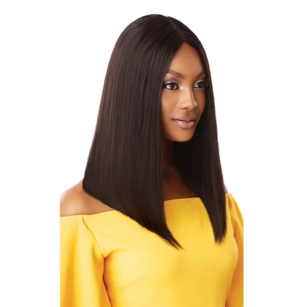 Outre The Daily Wig Unprocessed Human Hair Lace Part Full Wig - STRAIGHT BLUNT CUT BOB 16""