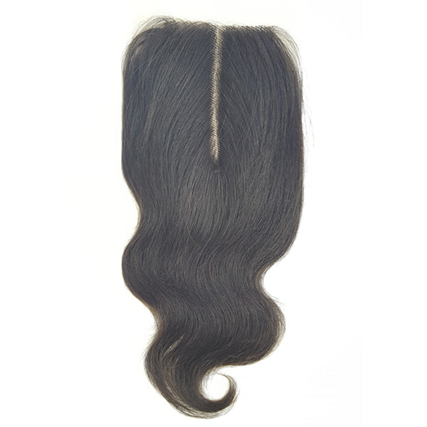 Lord & Cliff Unprocessed Virgin Hair Bleached Knots Deep Invisible Part Closure - BODY 12""