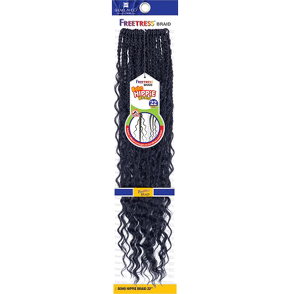 Freetress Synthetic Pre - Looped Crochet Braiding Hair - BOHO HIPPIE BRAID 22