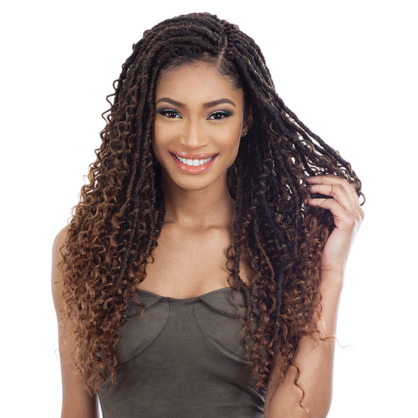 Freetress Synthetic Pre - Looped Crochet Braid - BOHO HIPPIE LOC 20""