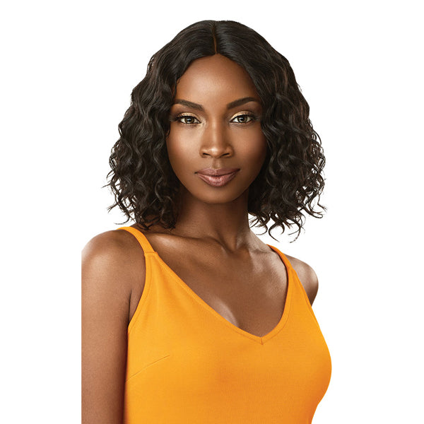 Outre The Daily Wig 100% Unprocessed Human Hair Lace Part Full Wig - CURLY BOB 12""