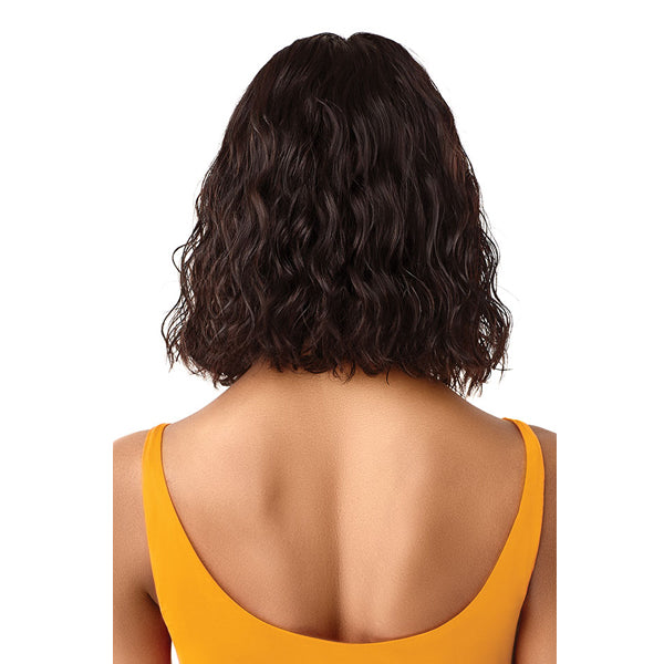 Outre The Daily Wig 100% Unprocessed Human Hair Lace Part Full Wig - CURLY BLUNT CUT BOB 14""