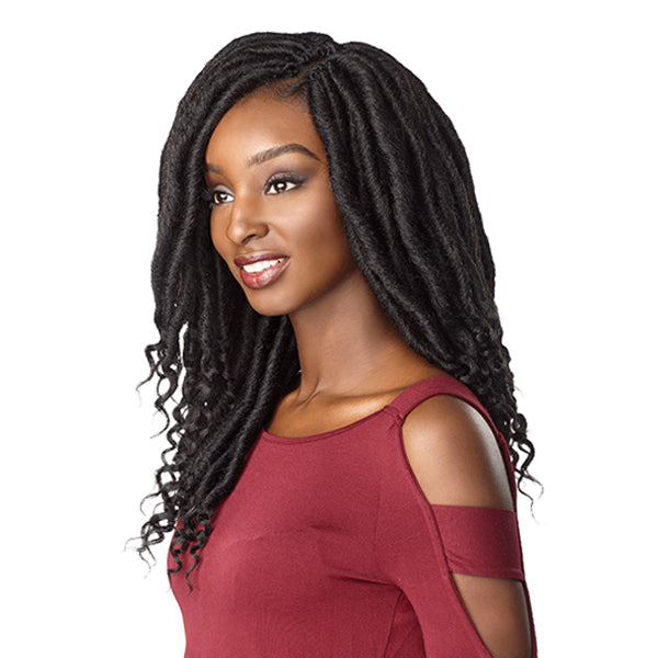 Sensationnel Lulutress Pre-Looped Crochet Braid - 3X CHUNKY GODDESS LOCS 16""