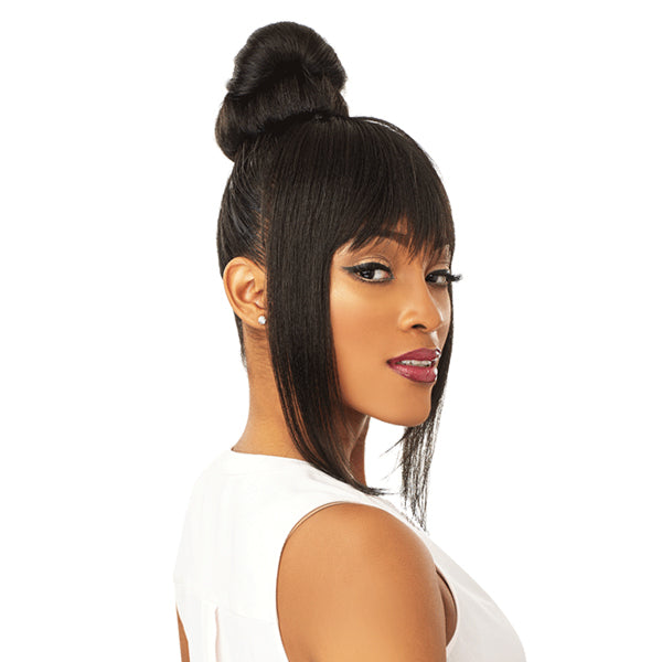 Sensationnel Instant Bun With Bangs Synthetic Drawstring Bun - DANI