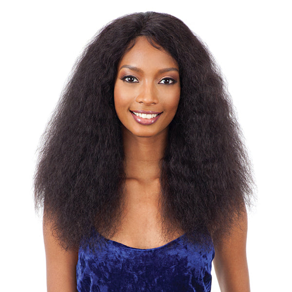 Naked Nature Brazilian Natural 100% Human Hair Wet & Wavy Lace Front Wig - DEEP CURL