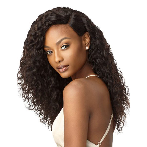 Outre Laid & Slayed Unprocessed Hair Wet & Wavy Lace Part Closure - DEEP WAVE