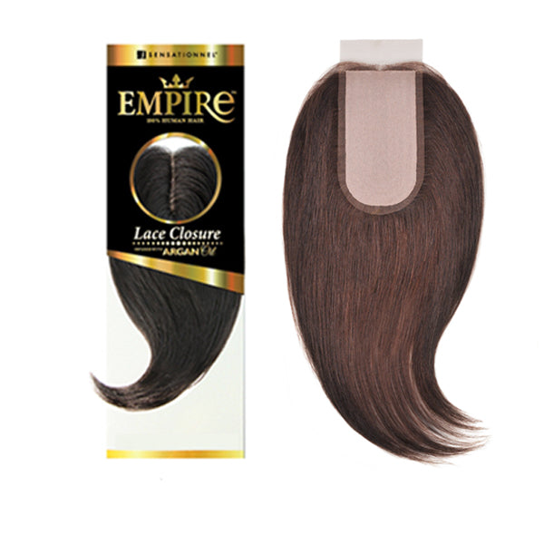 Sensationnel Empire 100% Human Hair 3 Way Part Lace Closure - YAKI 12""