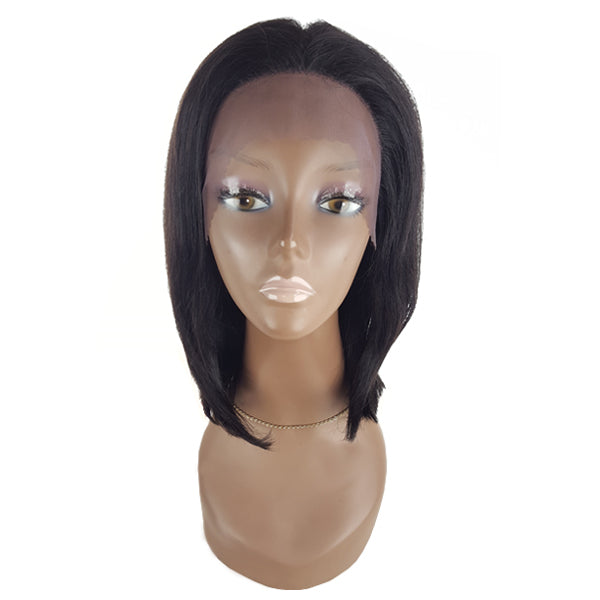 Lord & Cliff BLK 100% Virgin Remy Human Hair Lace Front Wig - FULL BOB 14""