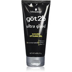 Got2b Ultra Glued Invincible Styling Gel, 6oz