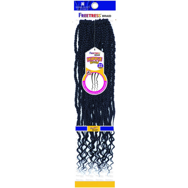 Freetress Synthetic Pre looped Crochet Braid - HIPPIE BRAID 22""