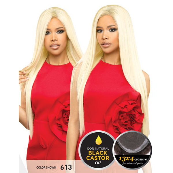 R&B Collection 3D Volume and Human Mink Natural Invisible Skin Cap Wig - HS MINK 32""
