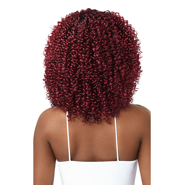Outre Purple Pack 3 PCS Human Hair Premium Blend Weaving Hair - JERRY CURL LONG