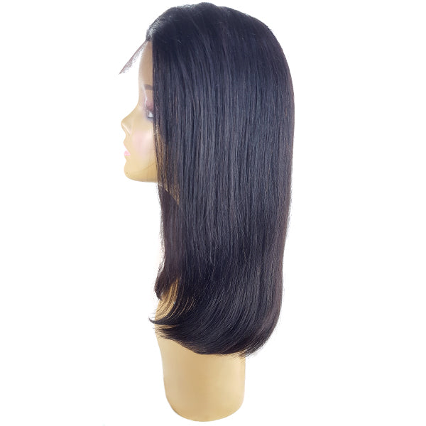 Lord & Cliff BLK 100% Virgin Remy Human Hair Lace Front Wig - FULL BOB 20""